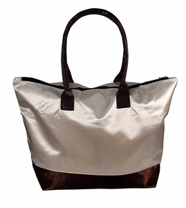 Womens Beach Fashion Large Travel Tote Handbag Shoulder Bag Purse Beige Coffee