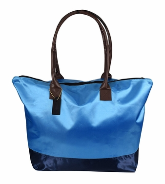 Womens Beach Fashion Large Travel Tote Handbag Shoulder Bag Purse Light Blue Navy