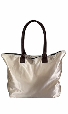 Womens Beach Fashion Large Travel Tote Handbag Shoulder Bag Purse Solid Beige