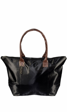Womens Beach Fashion Large Travel Tote Handbag Shoulder Bag Purse Solid Black