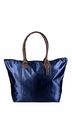 Womens Beach Fashion Large Travel Tote Handbag Shoulder Bag Purse Solid Navy Blue