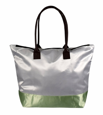 Womens Beach Fashion Large Travel Tote Handbag Shoulder Bag Purse White Light Green