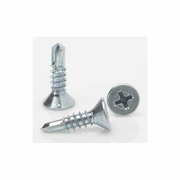 #10 x 1 - 1/2 Flat Head Self Tapping Screws Box of 100