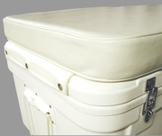 """10200-05 SSI Ultimate Cooler 200 QT 3"""" White vinyl covered cushion"""