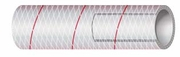 16-162-1186 CLEAR REINFORCED PVC TUBING RED TRACER 1-1/8'' I.D. X 50' Feet (SHIELDS)