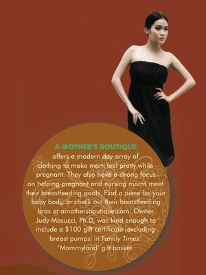 10-2011: Family Times Magazine Features A Mother's Boutique and our Chloe Dress