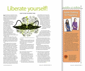 10-2011: Low Country Parent Magazine: Liberate Yourself! How To Find The Perfect Bra