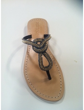 4900 Navy Crystal Sandal by Mystique