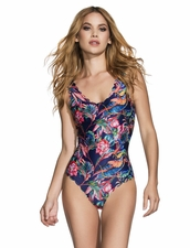 Agua Bendita Swimwear Bendito Azul Reversible One Piece -Birds