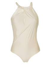 Aqua de Coco Swimwear Luxury One-piece Swimsuit - Cordas Couro