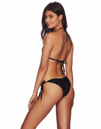 Beach Bunny Hard Summer Tie-Side Bottom -Black