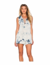 Blue Life Indie Romper - Deep Blue Crystal