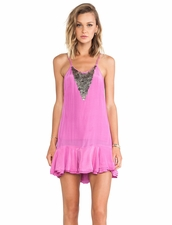 Bohemian BONES Cheeky Dress in Magenta