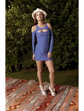 BOULEE Shay Dress in Sedona Blue
