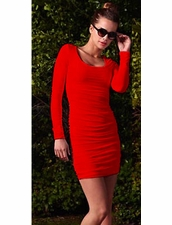 BOULEE Sydney Dress in Red