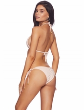 Beach Bunny Hard Summer Tie-Side Bottom -Blush