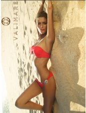 Cavoli Twisted Bandeau Bikini in Red by Valimare Swimwear