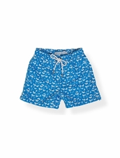 Classic Swim Trunk Royal Shark Tooth