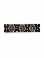 Cocobelle Elastic Pattern Belt in Aztec Black