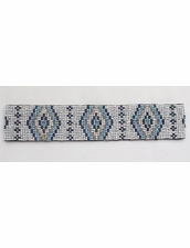 Cocobelle Elastic Pattern Belt in Aztec White