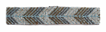 Cocobelle Elastic Pattern Belt in Feather Turquoise