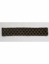 Cocobelle Elastic Pattern Belt in Florence Black