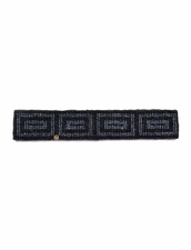 Cocobelle Elastic Pattern Belt in Rectangles Black