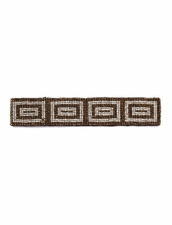 Cocobelle Elastic Pattern Belt in Rectangles Bronze