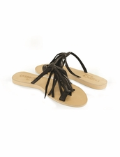 Cocobelle Fringe Sandals in Black