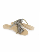 Cocobelle Fringe Sandals in Natural