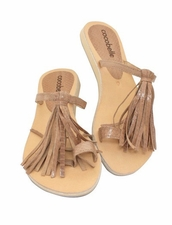 Cocobelle Fringe Sandals in Taupe
