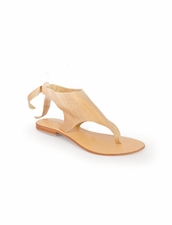 Cocobelle Snake Tie Sandals in Taupe