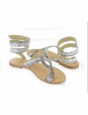 Cocobelle Snake Wrap Sandals in Natural