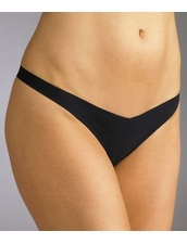 Commando Tiny Thong in Black by Her Look