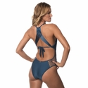 Despi Swimwear Almbrado One-Piece Swimsuit in Solid Indigo