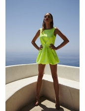 Di Stefania D Chio Backless Dress in Lime
