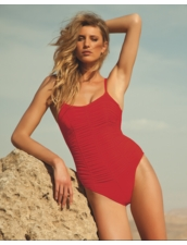 Diva Swimwear Haley Tank One Piece in Red