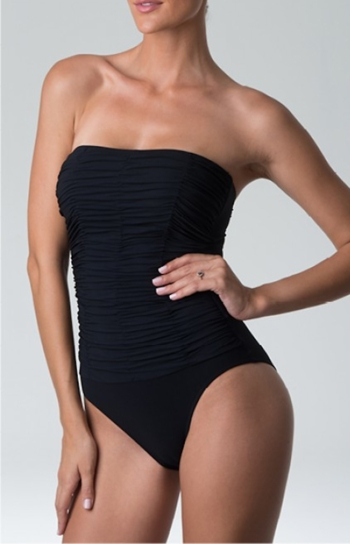 Diva Swimwear Heaven Strapless One Piece in Black