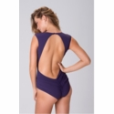 Diva Swimwear Heather High Neck One Piece - Purple