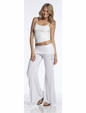 Elan Beachwear Rollover Waist Flair Pants