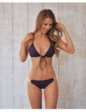Water Glamour Swimwear Elizabeth Crochet Moderate Bottom in Aubergine