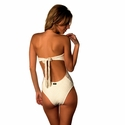 Empress Brasil Strapless One Piece Swimsuit in Ivory