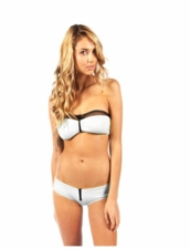 Erin Bandeau & Irene Boyshort Bottom in White by Tavik