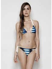 Estuaries Moore Bikini in Blue Frieze