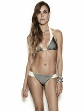 Estuaries Seine Bikini in Black Mesh.