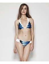 Estuaries Seine Bikini in Blue Frieze