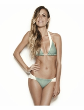 Estuaries Seine Bikini in Turquoise Mesh
