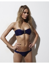 Harriet Bandeau Bikini in Navy by Varley