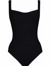 Karla Colletto Basic Square Neck One Piece Swimsuit in Black