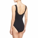 Karla Colletto Rick Rack Scalloped-Neck Underwire One-Piece Swimsuit  - Black